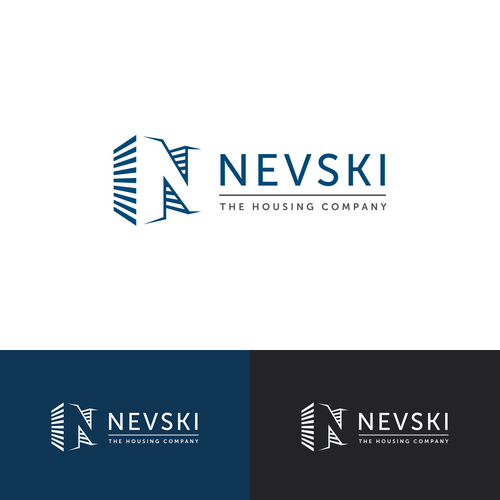 3D effect logo for a construction / housing company