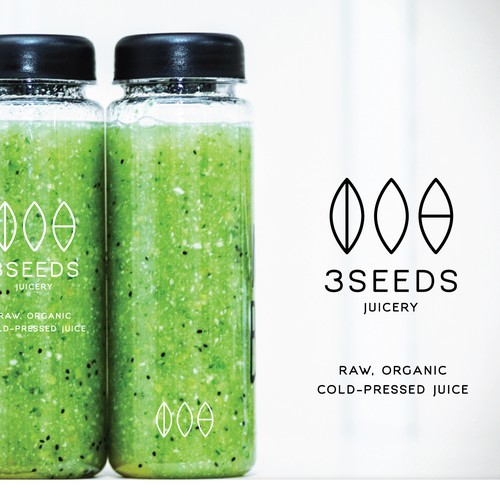 Elegant and simple logo design for organic cold-pressed juice
