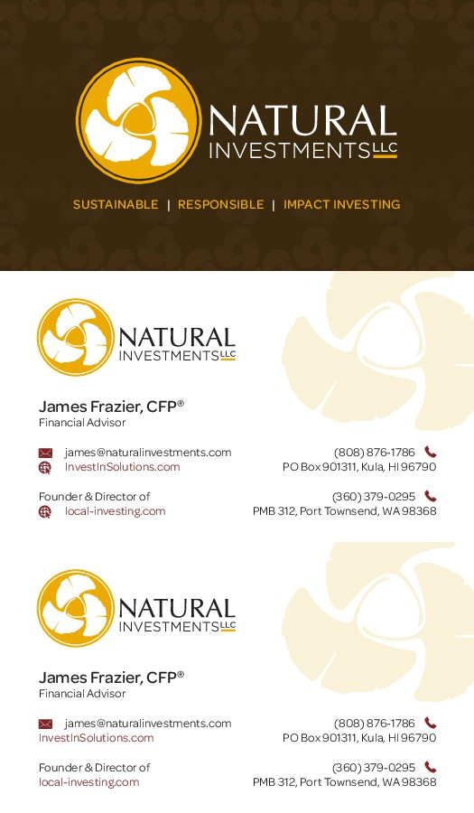 Green & Sustainable Financial Advisor Business Card