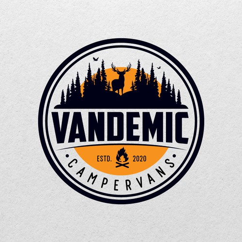 Outdoor logo for campervan's.
