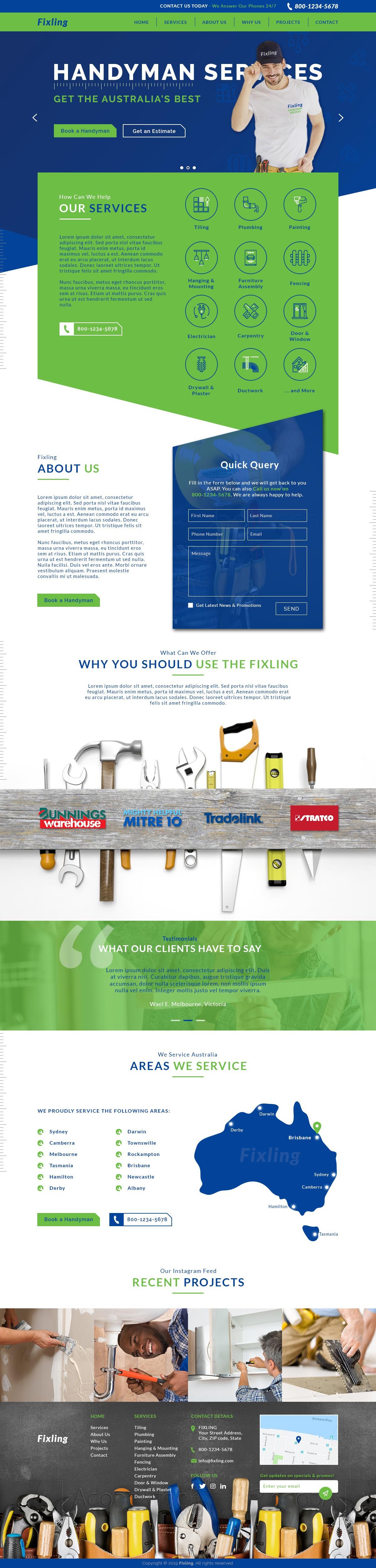 Best Customer Experience Handyman Company in Australia - Website Design