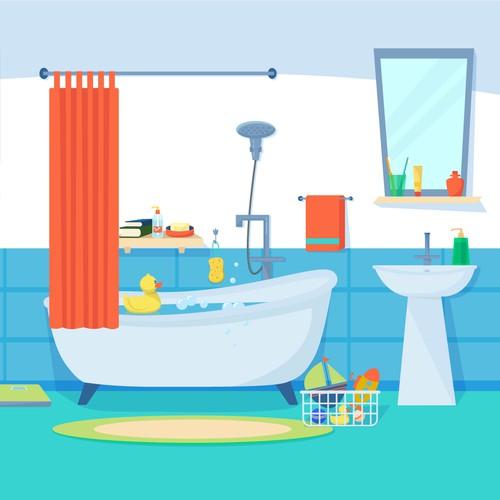 Virtual bathroom design for the app