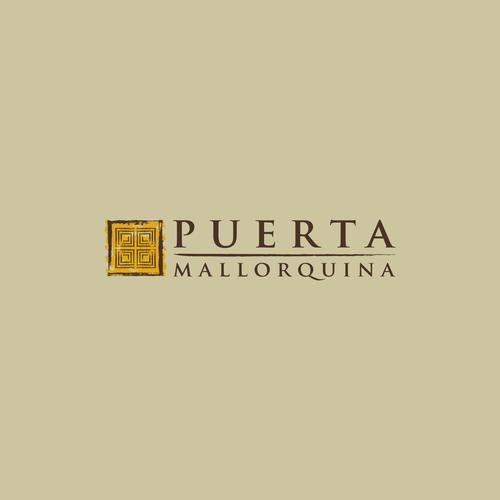modern Logo typical Mallorca. Organic, olive oil, dekoration mediterranean , pottery, ceramics. precions