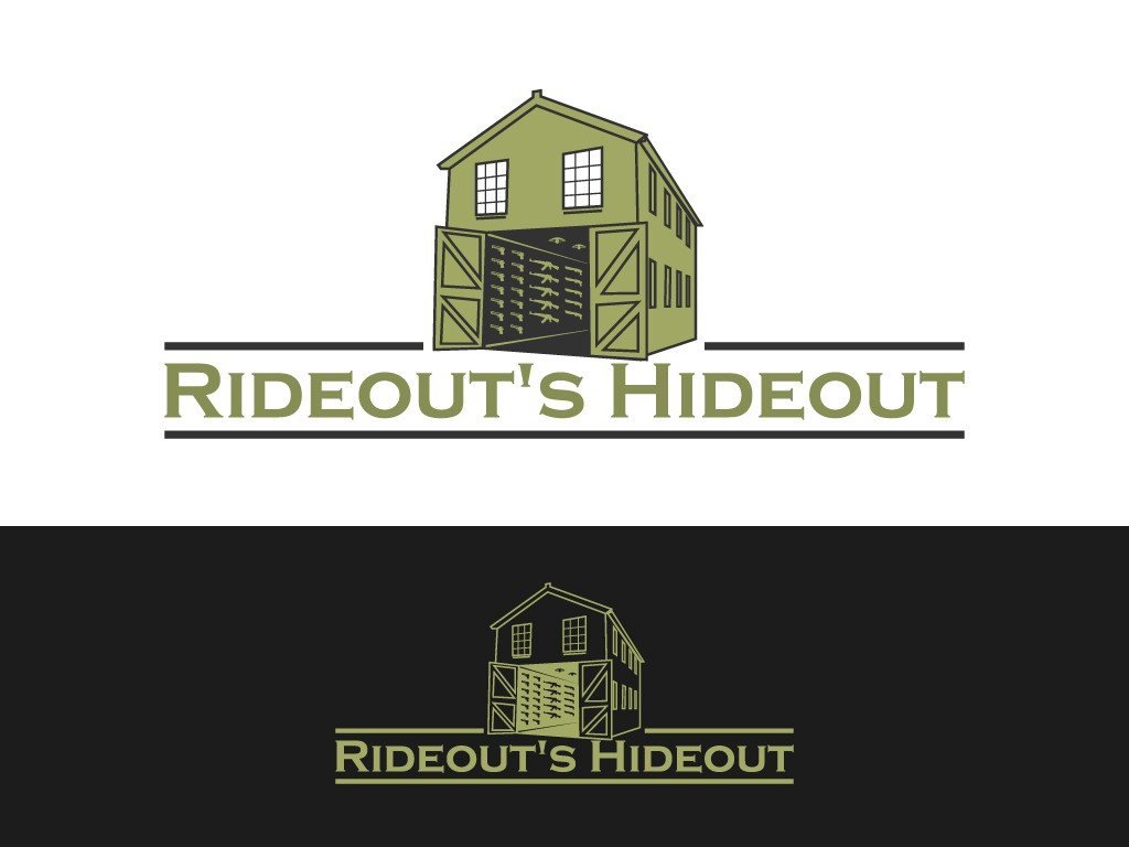 Create the next logo for Rideout's Hideout