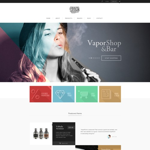 Vape Shop Website
