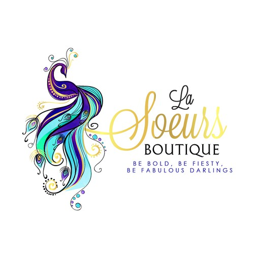 Elegant logo for women's accessories, jewelry and home décor boutique