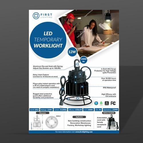 Flyer design for Lighting