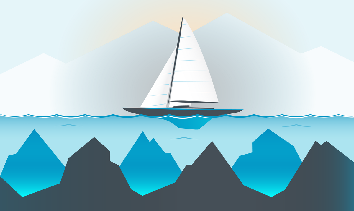 Boat on Water - Image for Powerpoint