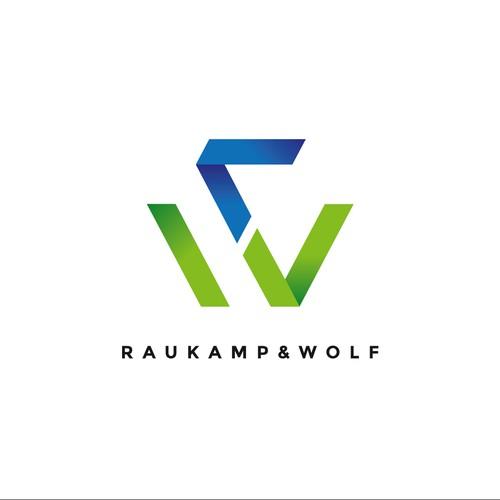 Logo-Design: Raukamp & Wolf Ingenieurgesellschaft