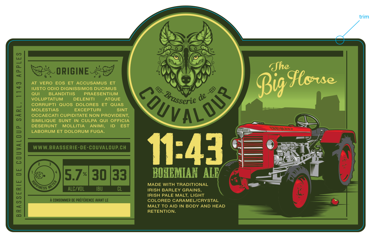 Beer label for our brewery
