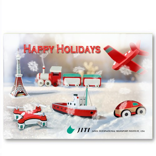 Holiday card for transport company