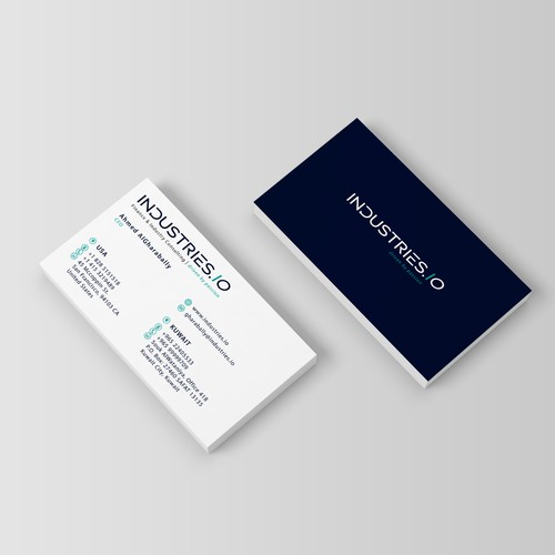 INDUSTRIES.IO - Finance & Industry Card/Logo Design. Firm that cares & wants to empower people globally