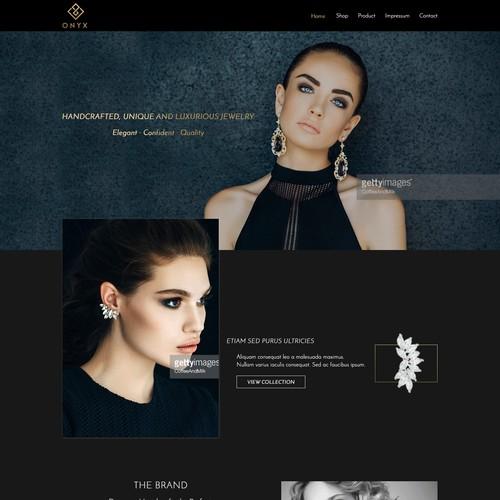 Luxury Jewelry Website design