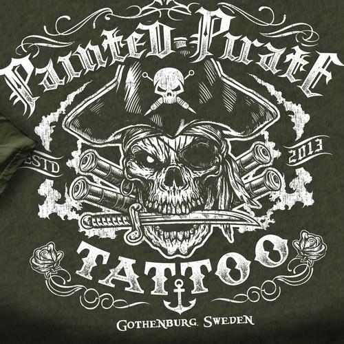 Tattoo shop T-shirt design