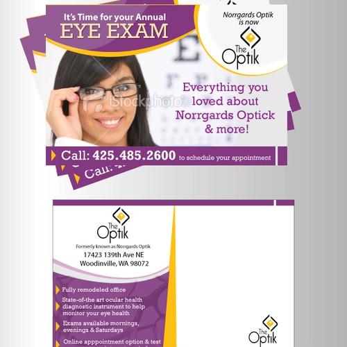 postcard or flyer for The Optik
