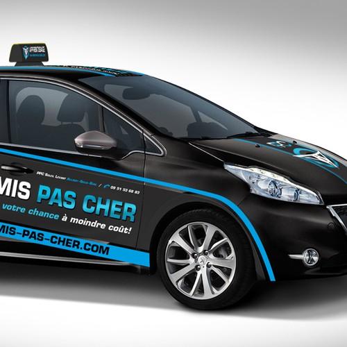 car wrap design for PERMIS-PAS-CHER.COM