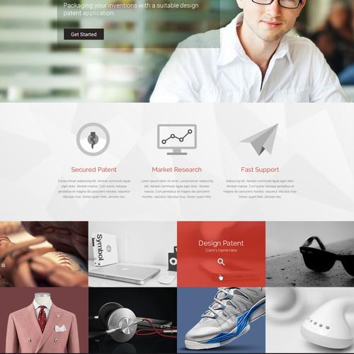 Web Design Concept for Create Patents