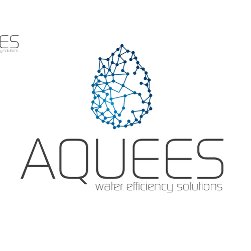 Logo concept for AQUEES, water efficiency company