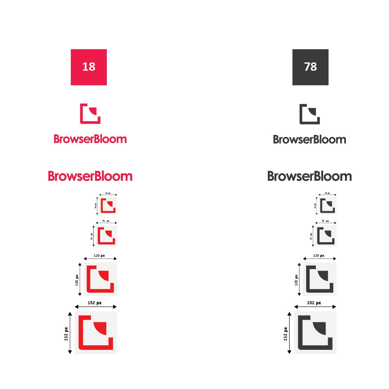 BrowserBloom logo design