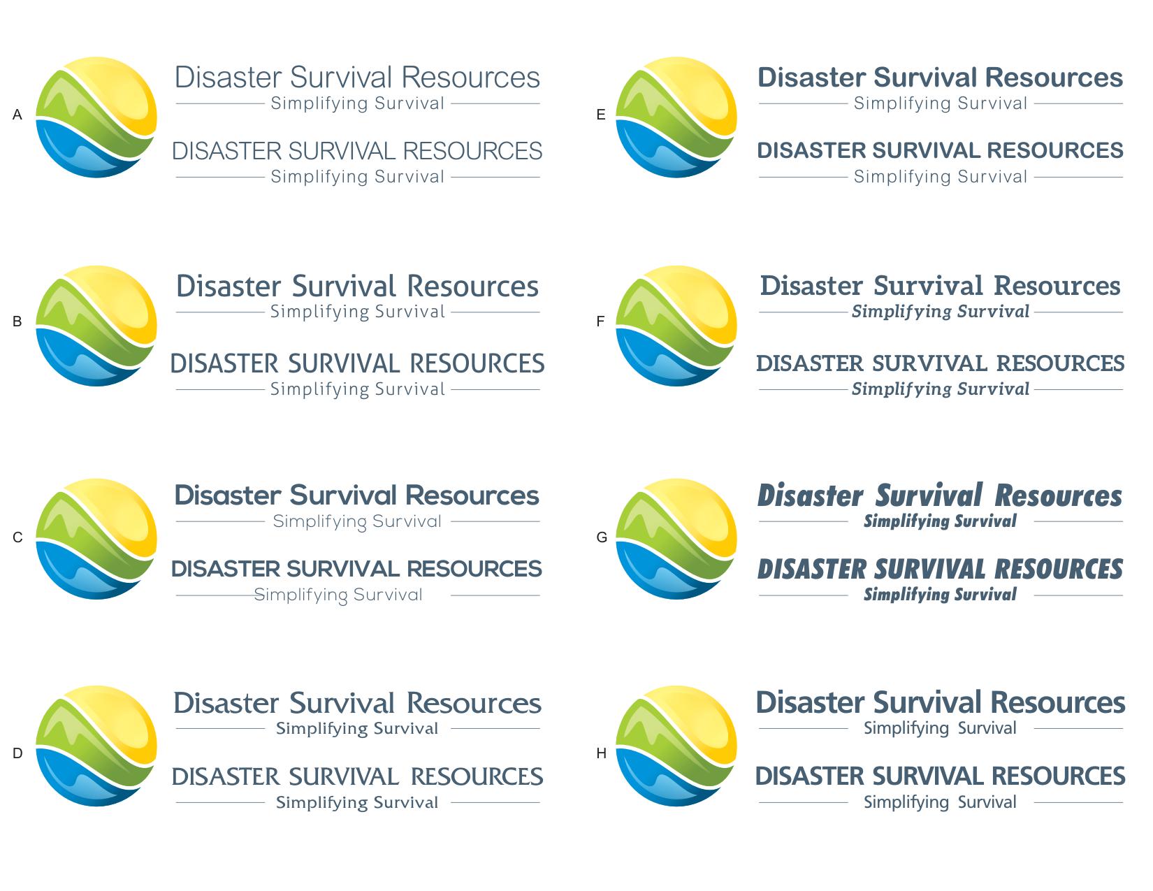 Create an inspiring modern logo for a preparedness website