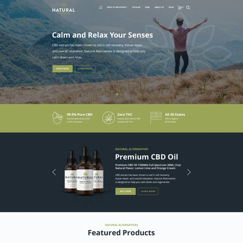 Web Design for Natural Alternatives