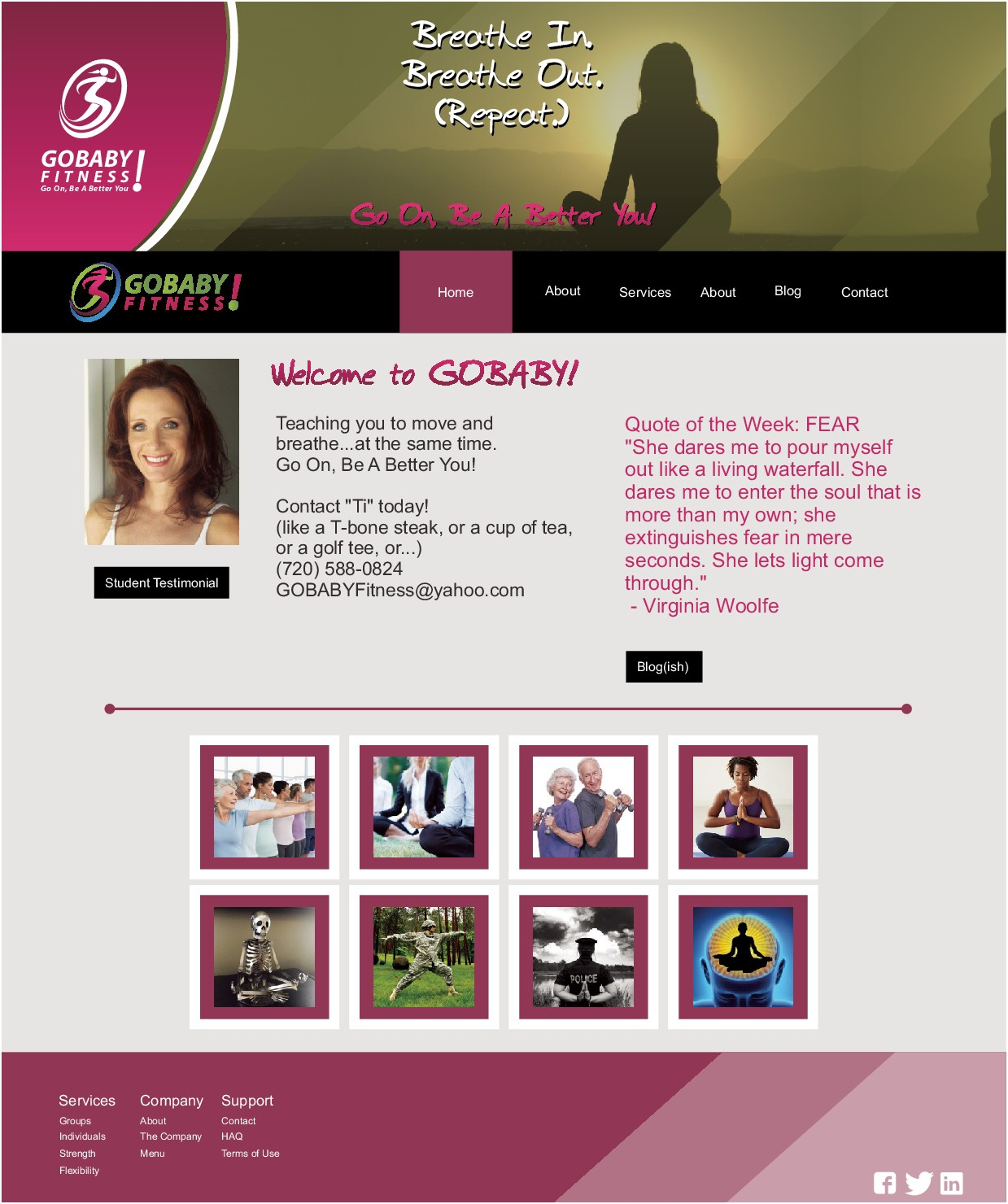 GOBABYFITNESS.COM Website Design
