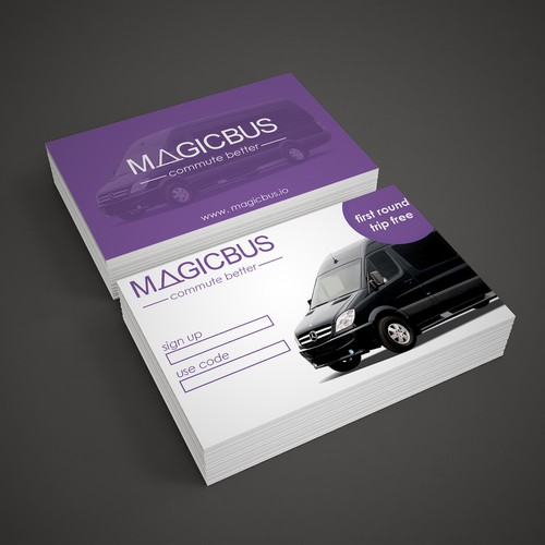 Business card design for Magic Bus