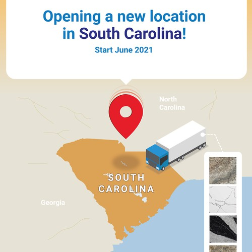 New branch store location announcement