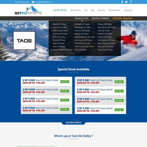 Redesign Our Ski Ticket Landing Page