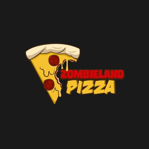 logo concept for Zombieland Pizza