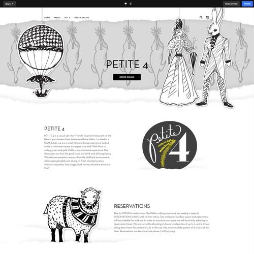 eatatpetite4.com Square Website