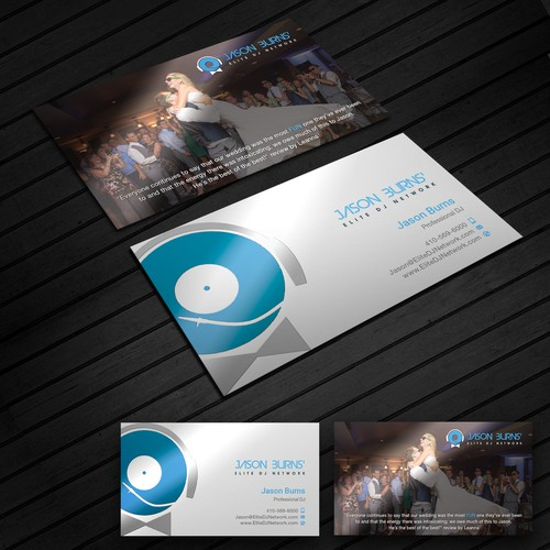 Business card for DJ Company