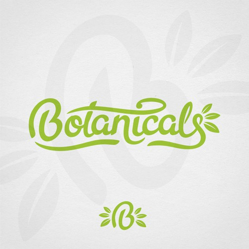 Hand lettering logo for organic drink