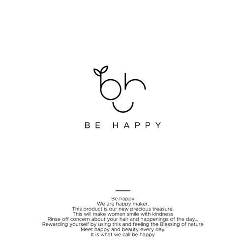Winning logo for BE HAPPY