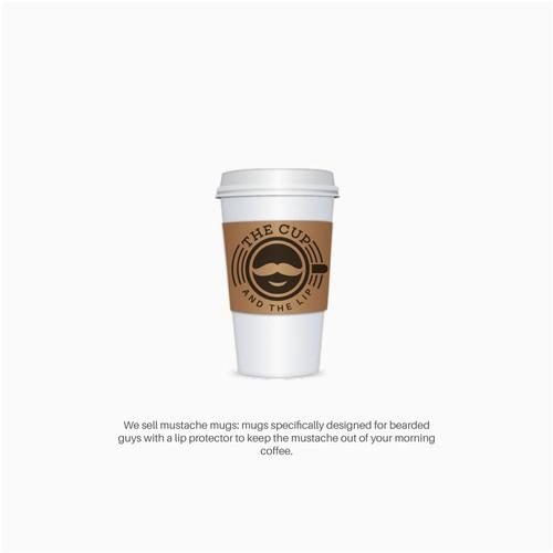 Mustache mug company logo