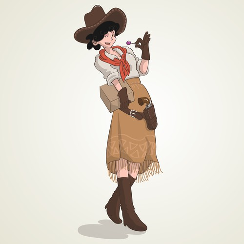 Candy Cowgirl Character Design