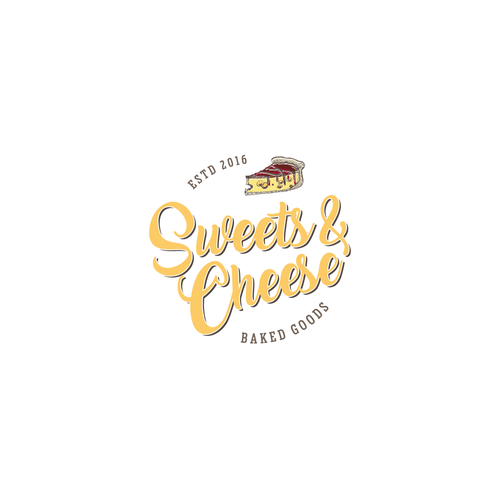 Logo concept for sweets and cheese store