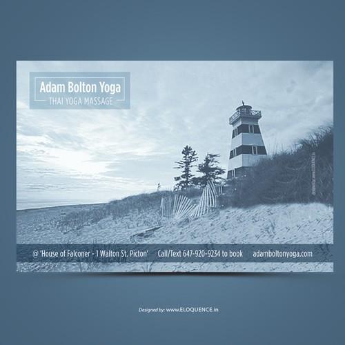 Adam Bolton Yoga Postcard