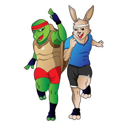 hare and turtle illustrations 02