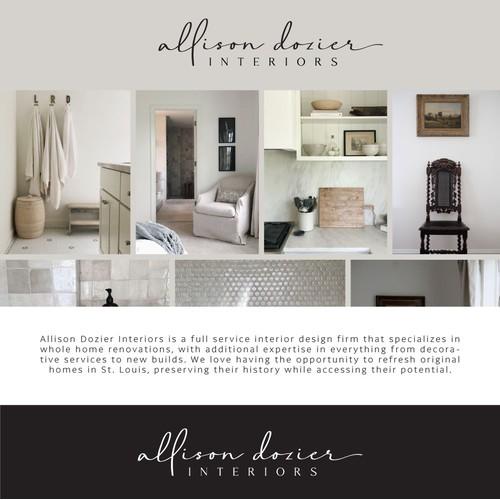 Logo for Interior design - Allison Dozier