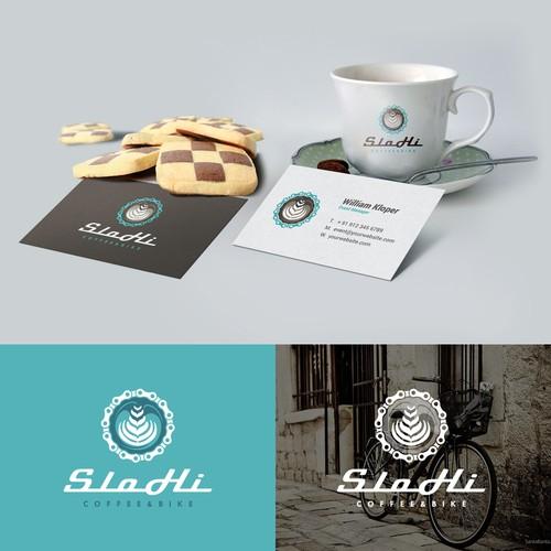 Logo SloHi Coffee + Bike