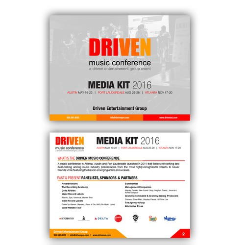 Winning Powerpoint Design for Driven Music Conference