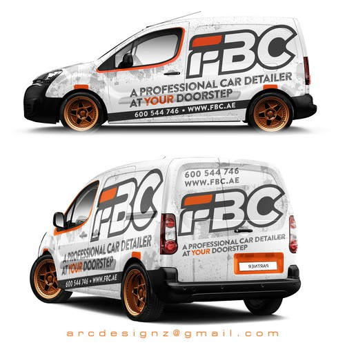 Car detailer wrap for FBC.