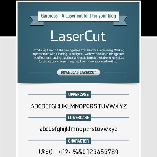 Laser Cut font