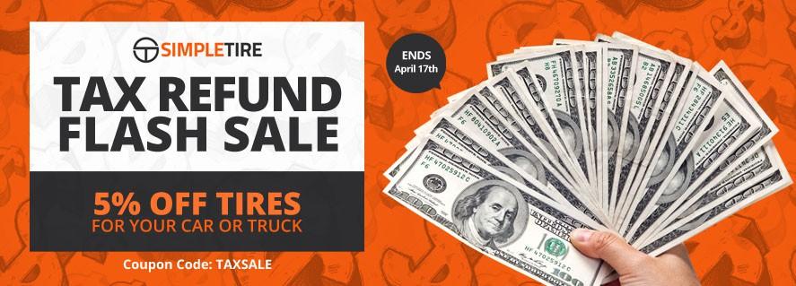 SimpleTire.com: Tax Refund Flash Sale