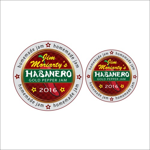2016 Habanero Gold Hot Pepper Jam label