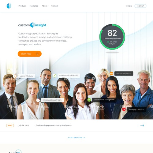 SEO driven Employee Engagement company website design