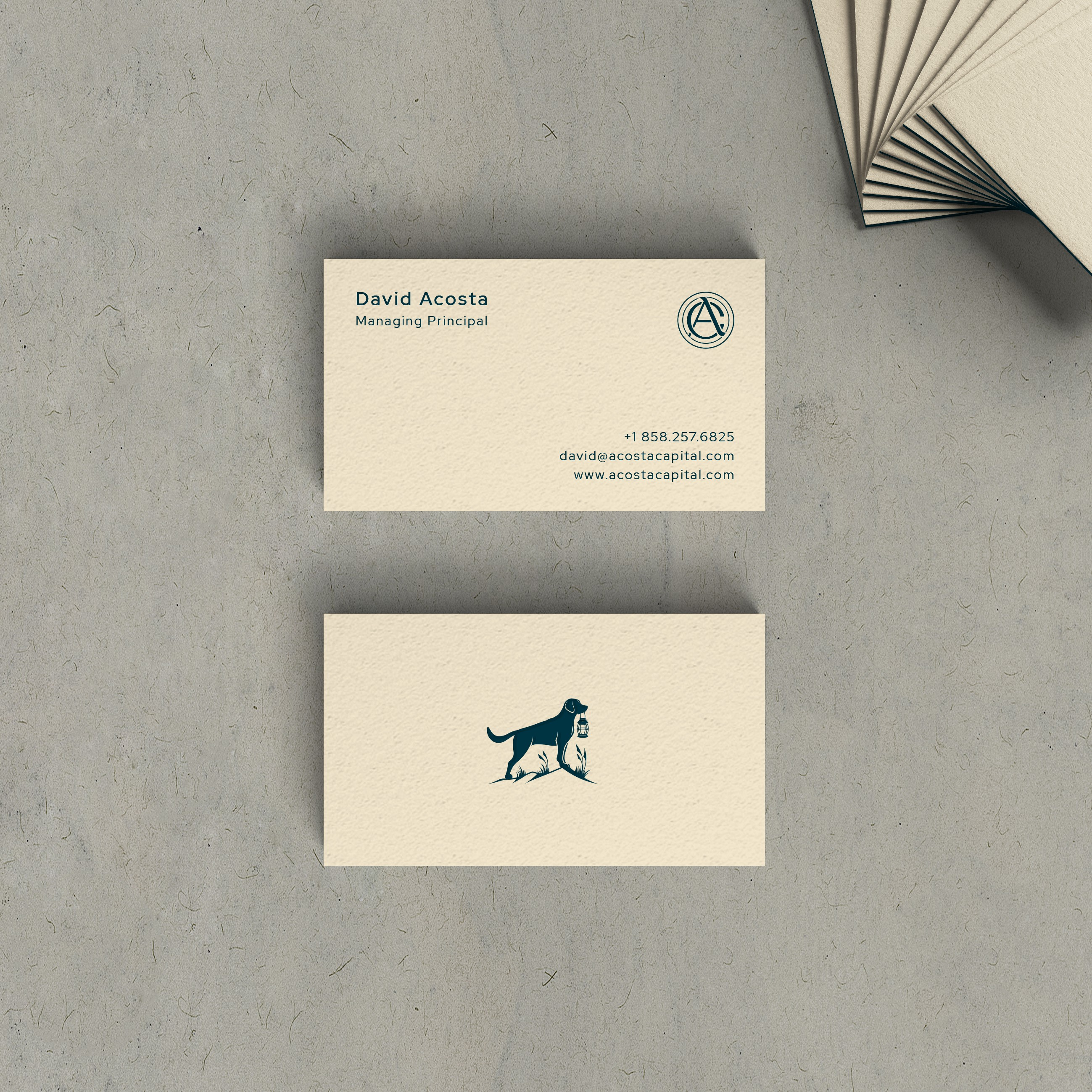 Acosta Capital - business card design