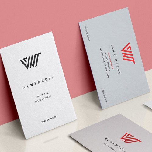 Minimal logo and business card for an advertising company