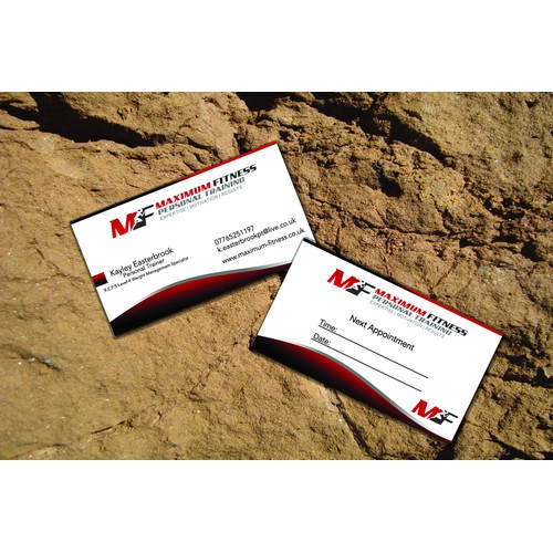 stationery for Maximum Fitness Personal Training